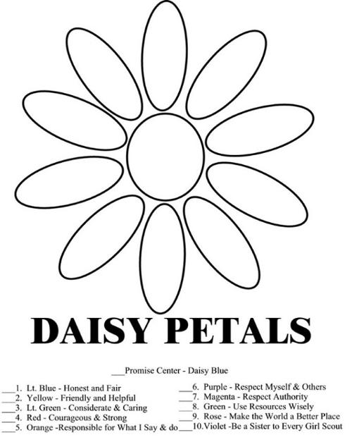Girl Scout Daisy Coloring Pages